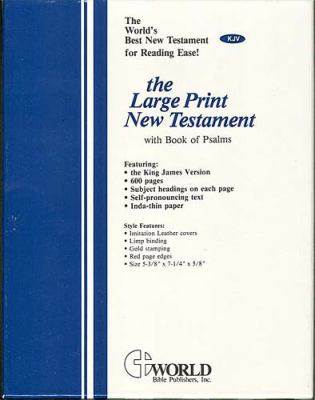 Large Print New Testament with Psalms-KJV 9780529111388