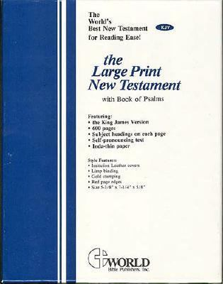 Large Print New Testament with the Book of Psalms-KJV 9780529058508