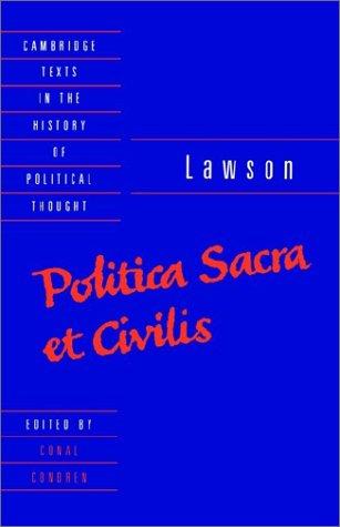 Lawson: Politica Sacra Et Civilis 9780521392488