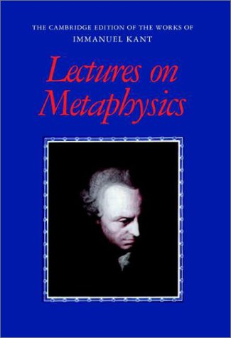 Lectures on Metaphysics 9780521000765