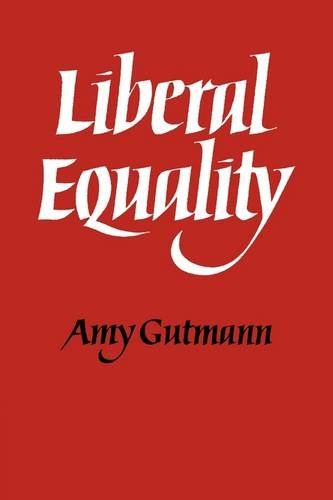 Liberal Equality 9780521296656