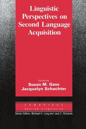 Linguistic Perspectives on Second Language Acquisition 9780521378116