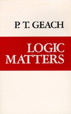 Logic Matters 9780520038479