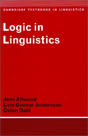 Logic in Linguistics 9780521291743