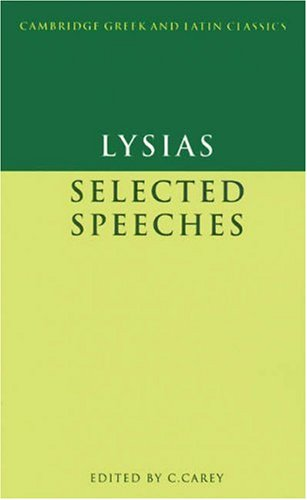 Lysias: Selected Speeches 9780521269889