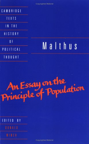 Malthus: 'an Essay on the Principle of Population' 9780521429726