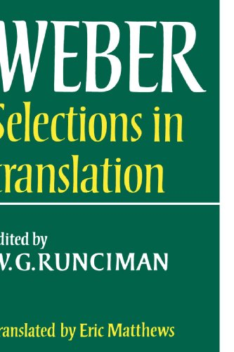 Max Weber: Selections in Translation 9780521292689
