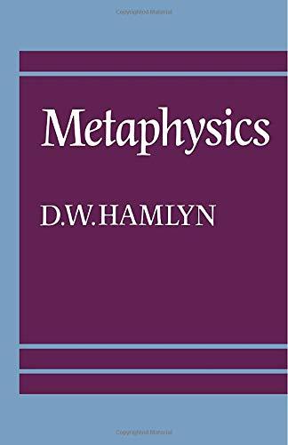 Metaphysics 9780521286909