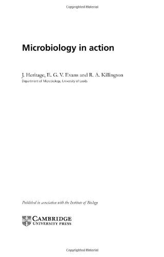 Microbiology in Action 9780521621113