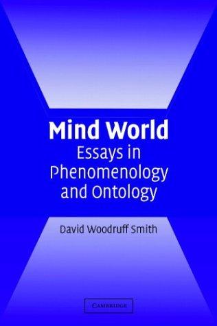 Mind World: Essays in Phenomenology and Ontology 9780521539739