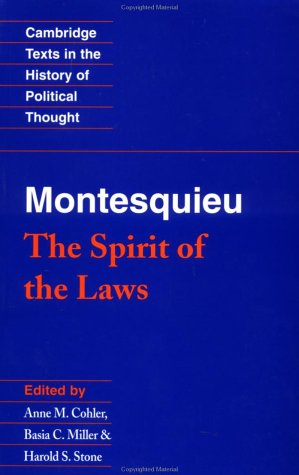 Montesquieu: The Spirit of the Laws 9780521369749