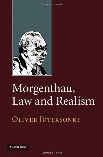 Morgenthau, Law and Realism 9780521769280