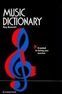 Music Dictionary 9780521569309