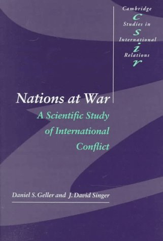 Nations at War: A Scientific Study of International Conflict 9780521629065