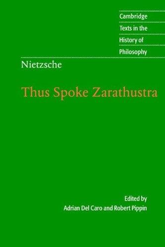 Nietzsche: Thus Spoke Zarathustra 9780521602617