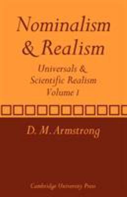 Nominalism and Realism: Volume 1: Universals and Scientific Realism 9780521280334