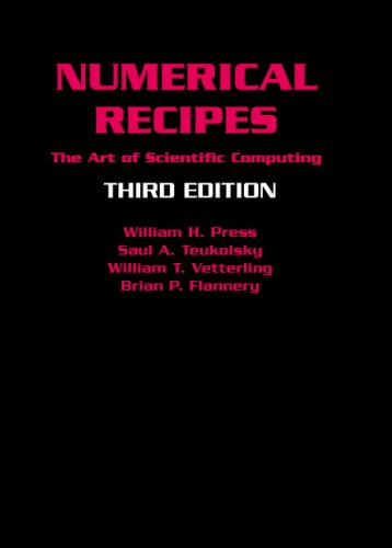 Numerical Recipes: The Art of Scientific Computing 9780521880688