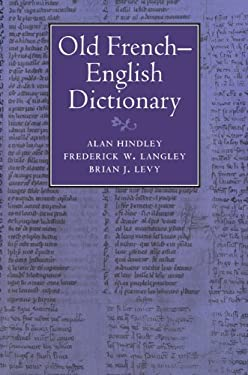 Old French-English Dictionary 9780521027045