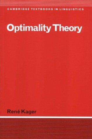 Optimality Theory 9780521589802