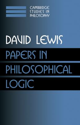 Papers in Philosophical Logic: Volume 1 9780521582476