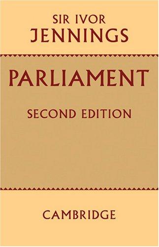 Parliament 9780521095327
