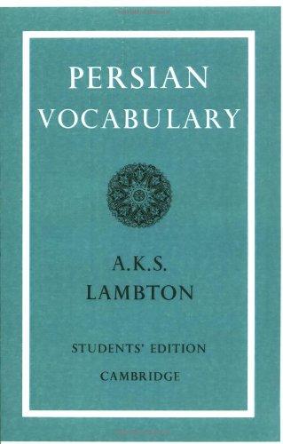 Persian Vocabulary 9780521091541