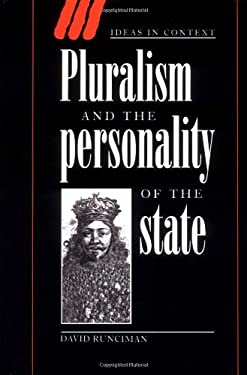 Pluralism and the Personality of the State 9780521551915