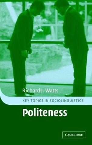 Politeness 9780521794060