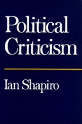 Political Criticism 9780520080324