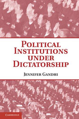 Political Institutions Under Dictatorship 9780521155717
