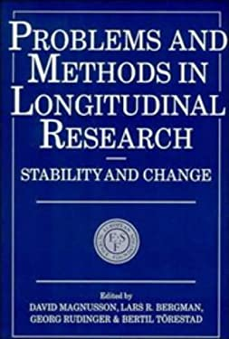 Problems and Methods in Longitudinal Research: Stability and Change 9780521467322