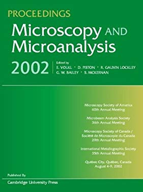 Proceedings: Microscopy and Microanalysis 2002: Volume 8 [With CDROM] 9780521824057