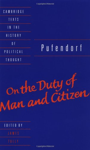 Pufendorf: On the Duty of Man and Citizen According to Natural Law 9780521359801