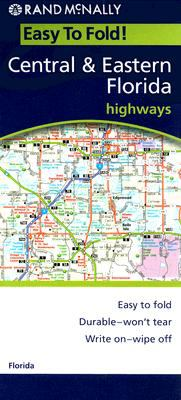 Rand McNally Easy to Fold! Central & Eastern Florida Highways 9780528868979