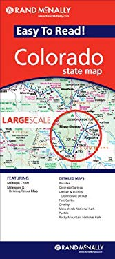 Rand McNally Easy to Read! Colorado State Map 9780528868580