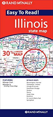Rand McNally Easy to Read! Illinois State Map 9780528868603