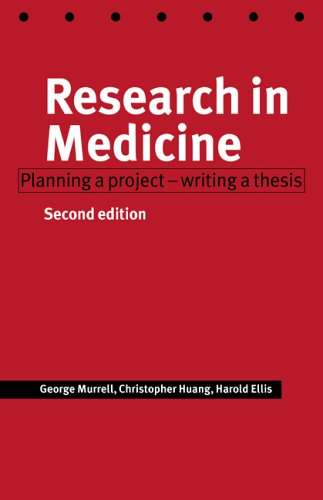 Research in Medicine: Planning a Project - Writing a Thesis 9780521626705