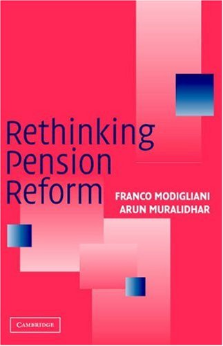 Rethinking Pension Reform 9780521676533