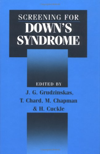 Screening for Down's Syndrome 9780521452717
