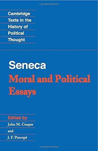 Seneca: Moral and Political Essays 9780521348188