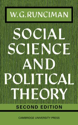 Social Science and Political Theory 9780521095624