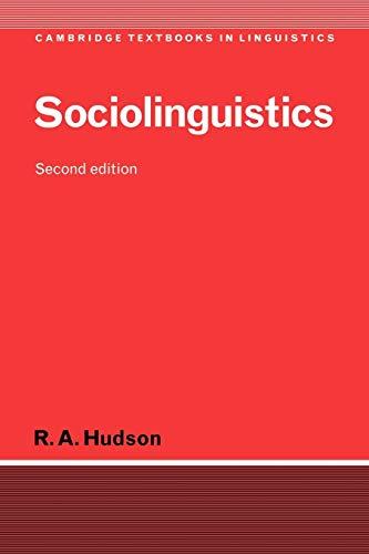 Sociolinguistics - 2nd Edition