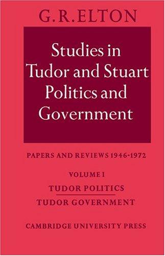 Studies Tudor Stuart Politics 1 9780521202824