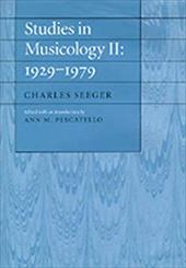 Studies in Musicology II: 1929-1979