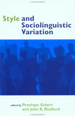 Style and Sociolinguistic Variation 9780521597890