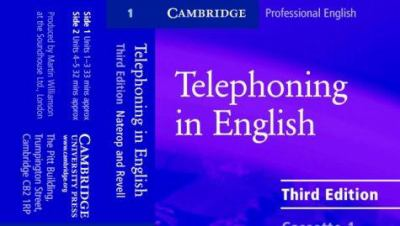 Telephoning in English Audio Cassette 9780521539128