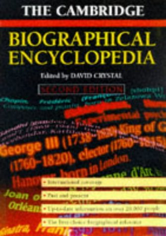 The Cambridge Biographical Encyclopedia 9780521630993