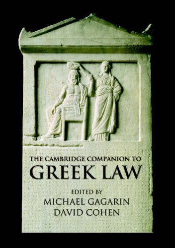 The Cambridge Companion to Ancient Greek Law 9780521521598