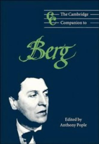 The Cambridge Companion to Berg 9780521564892