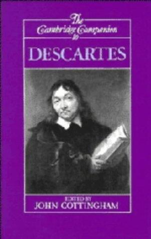 The Cambridge Companion to Descartes 9780521366236